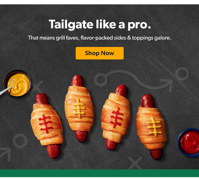 Tailgate like a pro. Shop Now.